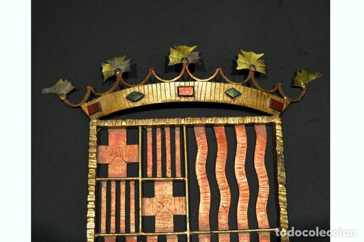 Antigüedades: GRAN ESCUDO CATALUNYA EN FORJA DE HIERRO BARCELONA TARRAGONA LLEIDA GIRONA - Foto 5 - 53714874
