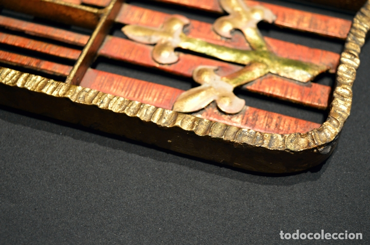 Antigüedades: GRAN ESCUDO CATALUNYA EN FORJA DE HIERRO BARCELONA TARRAGONA LLEIDA GIRONA - Foto 7 - 53714874