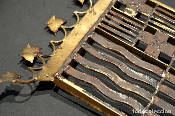 Antigüedades: GRAN ESCUDO CATALUNYA EN FORJA DE HIERRO BARCELONA TARRAGONA LLEIDA GIRONA - Foto 10 - 53714874