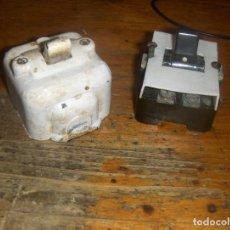 Antigüedades: 2 INTERRUPTORES PLASTIMETAL USADOS. MATERIAL ELECTRICO.. Lote 116760419