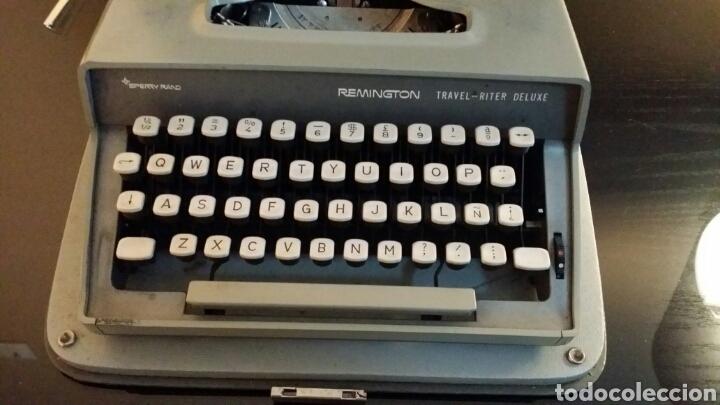 Antigüedades: Máquina de escribir Remington travel riter deluxe - Foto 4 - 116768112
