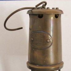 Antigüedades: LAMPARA DE MINAS - LAMP & LIMELIGHT COMPANY HOCKLEY - 24CM APROX. Lote 116847054