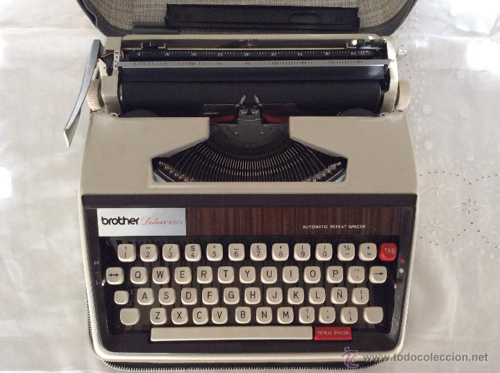 Antigüedades: BROTHER DELUXE 1350 antigua Máquina de escribir con su maleta - Foto 6 - 116865011