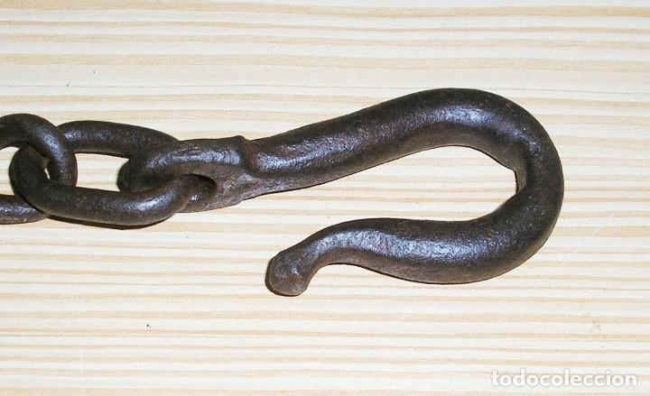 Antigüedades: Antigua cadena con gancho.185 cm. - Foto 3 - 116872171