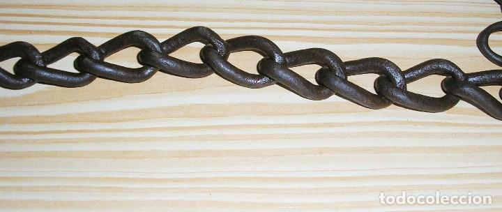 Antigüedades: Antigua cadena con gancho.185 cm. - Foto 6 - 116872171