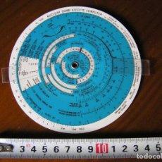 Antigüedades: REGLA DE CALCULO CIRCULAR NUCLEAR BOMB EFFECTS COMPUTER CALCULATOR SLIDE RULE RECHENSCHIEBER. Lote 116895615