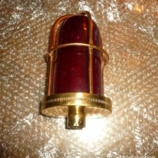 Antigüedades: LUZ DE TECHO CRISTAL ROJO OSCURO. Lote 116957447
