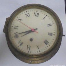 Antigüedades: ANTIGUO RELOJ DE BARCO. 17 CM DIAMETRO. FALTA LLAVE. VER FOTOS. Lote 117005951