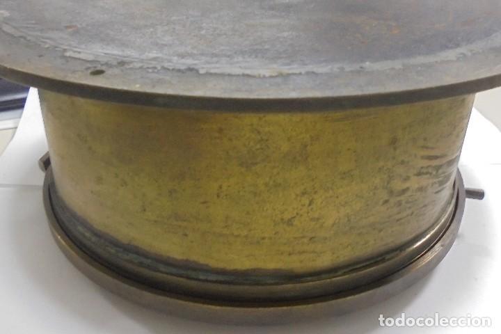 Antigüedades: ANTIGUO RELOJ DE BARCO. 17 CM DIAMETRO. FALTA LLAVE. VER FOTOS - Foto 7 - 117005951