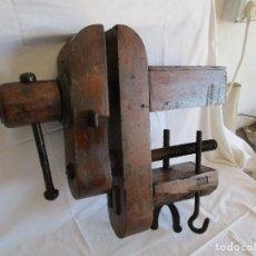 Antigüedades: TORNILLO DE BANCO PRENSA DE CARPINTERO . Lote 117014627