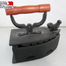 Antigüedades: PLANCHA DE CARBÓN DE HIERRO, REPRODUCCIÓN A TAMAÑO REAL.. Lote 117079159