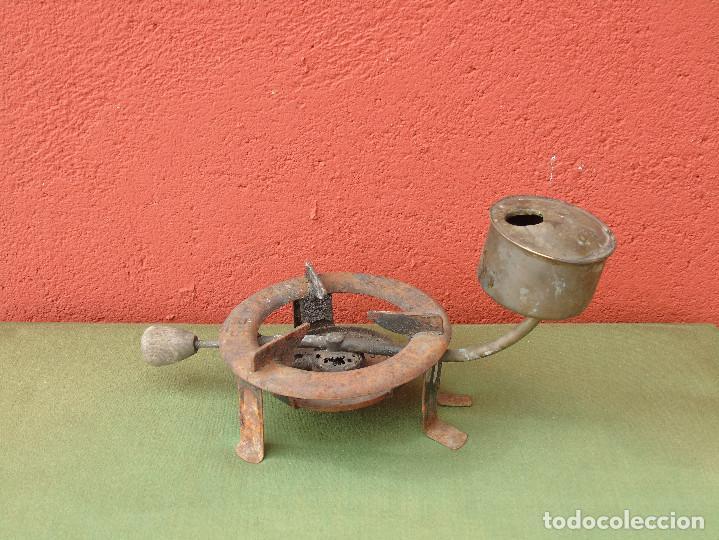 Antigüedades: ANTIGUO INFERNILLO, HORNILLO, QUEMADOR DE ALCOHOL, DE FARMACIA O BOTICA. MARCA: MARS - Foto 2 - 117114811