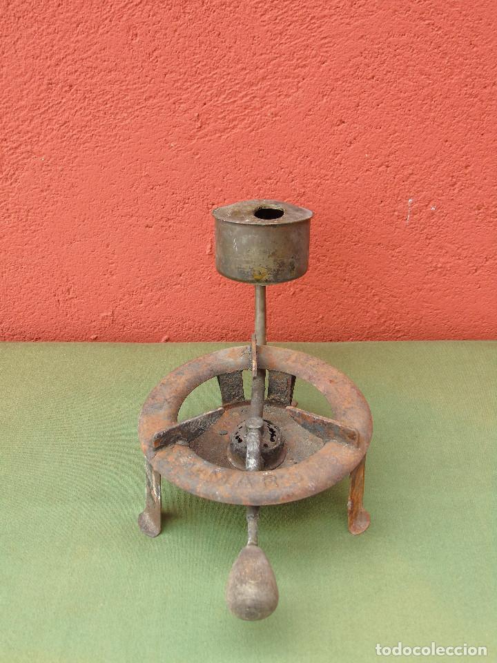 Antigüedades: ANTIGUO INFERNILLO, HORNILLO, QUEMADOR DE ALCOHOL, DE FARMACIA O BOTICA. MARCA: MARS - Foto 7 - 117114811