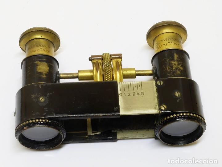 Antigüedades: S.XIX Binoculares Prismáticos Tom Pouce Duvelleroy Halbreck Miniatura, de ópera o bolsillo - Foto 5 - 117143843