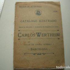 Antigüedades: CATÁLOGO CARLOS WERTHEIM NUEVAS MÁQUINAS PARA COSER BARCELONA1906. Lote 117145019