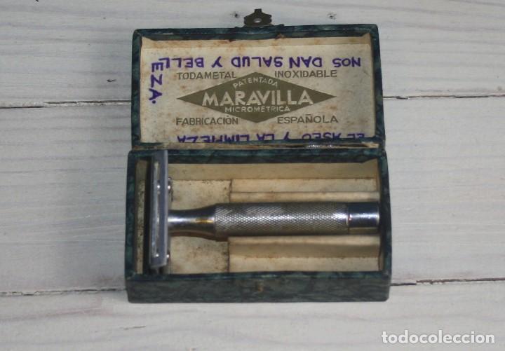 MAQUINILLA DE AFEITAR MARAVILLA - MICROMÉTRICA - CON CAJA ESTUCHE (Antigüedades - Técnicas - Barbería - Maquinillas Antiguas)