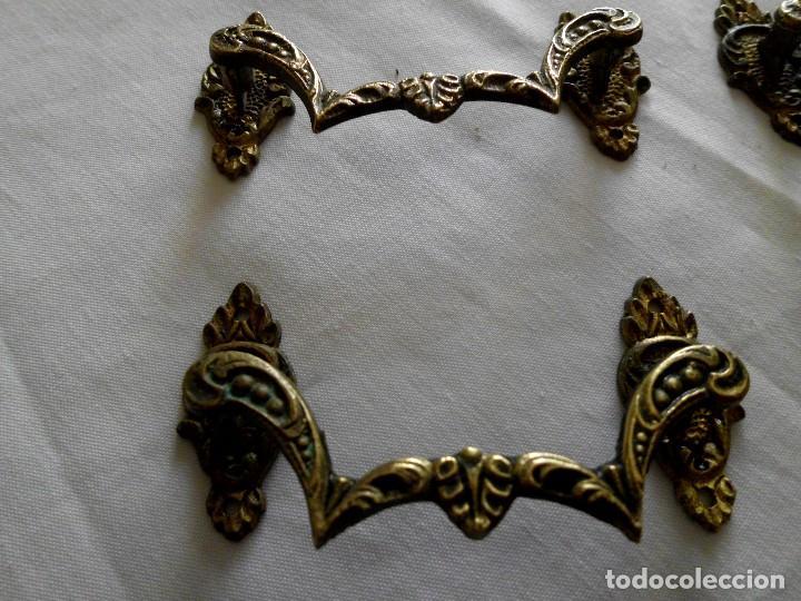 Antigüedades: Lote de 9 tiradores de bronce - Foto 2 - 117154539