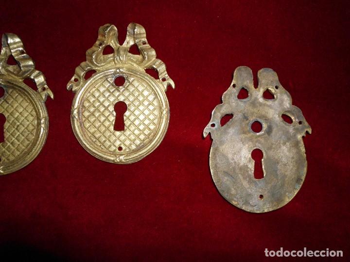 Antigüedades: Conjunto de 3 tiradores de bronce Estilo Imperio - Foto 2 - 117246971