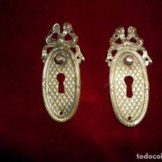 Antigüedades: 2 TIRADORES BOCALLABE IMPERIO. Lote 117247171