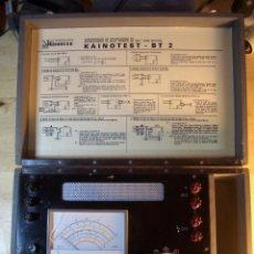 Antigüedades: KAINOTEST BT-2 COMPROBADOR PROTECCIONES INSTALACIONES BAJA TENSION BT2 TESTER. Lote 117285643