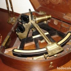 Antigüedades: SEXTANTE SIGLO XVIII/XIX MADERA FABRICADO EN BARCELONA. Lote 117362703