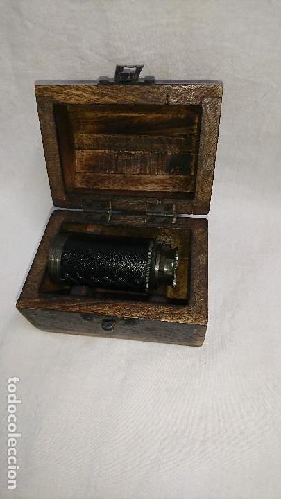 Antigüedades: CATALEJO RÉPLICA CON CAJA DE MADERA - Foto 5 - 165334281