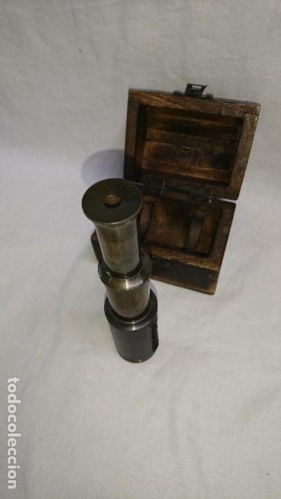Antigüedades: CATALEJO RÉPLICA CON CAJA DE MADERA - Foto 3 - 165334281