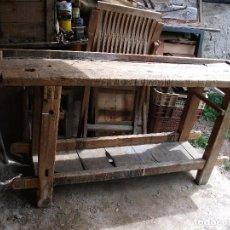 Antigüedades: BANCO ANTIGUO DE CARPINTERO PARA RESTAURAR MEDIDA 186 X 46 CM. ALTURA 86 CM. . Lote 135064658
