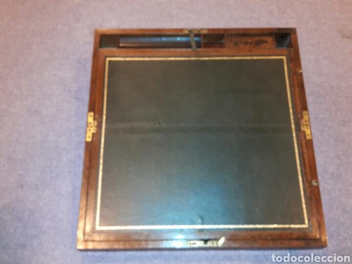 Antigüedades: Caja escritorio s XlX, secretos, gran calidad - Foto 3 - 117517266