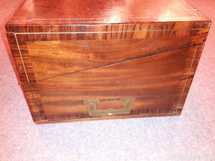 Antigüedades: Caja escritorio s XlX, secretos, gran calidad - Foto 4 - 117517266