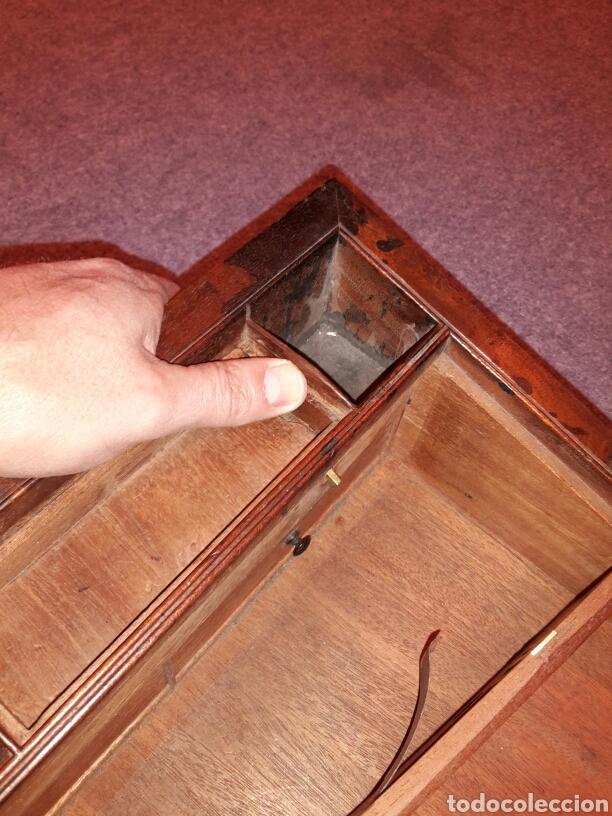Antigüedades: Caja escritorio s XlX, secretos, gran calidad - Foto 6 - 117517266