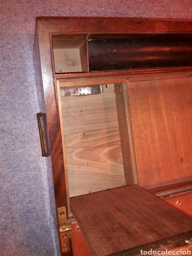 Antigüedades: Caja escritorio s XlX, secretos, gran calidad - Foto 9 - 117517266