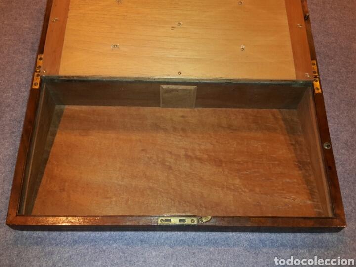 Antigüedades: Caja escritorio s XlX, secretos, gran calidad - Foto 10 - 117517266