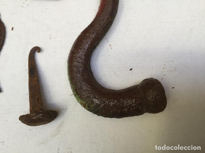Antigüedades: LLAMADOR PICAPORTE HIERRO PORTÓN ANTIGUO FORJA ANTIGUA. ALDABON - Foto 8 - 117522683