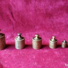 Antigüedades: PONDERALES ANTIGUOS 5 UNIDADES.. Lote 117621263