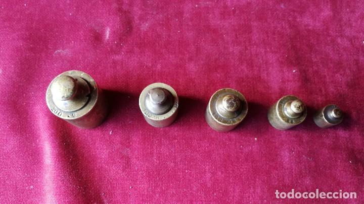 Antigüedades: PONDERALES ANTIGUOS 5 UNIDADES. - Foto 2 - 117621263