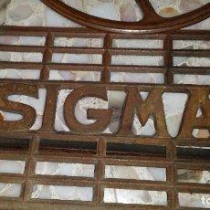 Antigüedades: PEDAL Y RUEDA SIGMA. Lote 117630431