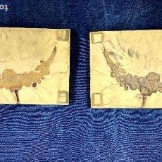 Antigüedades: HERRAMIENTA MOLDE CAUCHO GUIRNALDA FLORES FUNDICION BRONCE O SIMILAR APLIQUE MUEBLE ONTALVA N 1 3,5. Lote 117640227