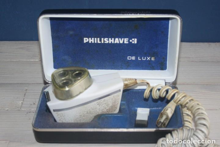 MAQUINILLA DE AFEITAR PHILISHAVE 3 DE LUXE CON CAJA, ESTUCHE E INSTRUCCIONES (Antigüedades - Técnicas - Barbería - Maquinillas Antiguas)
