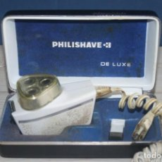 Antigüedades: MAQUINILLA DE AFEITAR PHILISHAVE 3 DE LUXE CON CAJA, ESTUCHE E INSTRUCCIONES. Lote 117756447