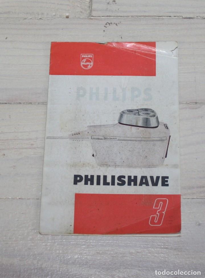 Antigüedades: Maquinilla de afeitar PHILISHAVE 3 DE LUXE con caja, estuche e instrucciones - Foto 4 - 117756447