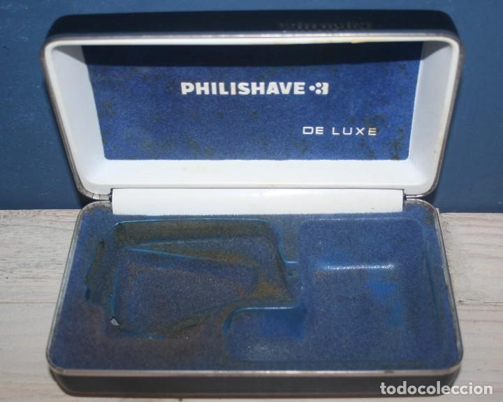 Antigüedades: Maquinilla de afeitar PHILISHAVE 3 DE LUXE con caja, estuche e instrucciones - Foto 7 - 117756447
