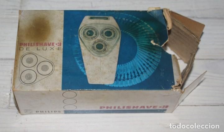 Antigüedades: Maquinilla de afeitar PHILISHAVE 3 DE LUXE con caja, estuche e instrucciones - Foto 8 - 117756447