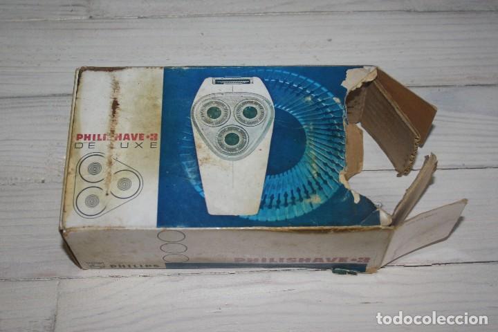 Antigüedades: Maquinilla de afeitar PHILISHAVE 3 DE LUXE con caja, estuche e instrucciones - Foto 9 - 117756447