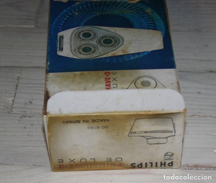 Antigüedades: Maquinilla de afeitar PHILISHAVE 3 DE LUXE con caja, estuche e instrucciones - Foto 11 - 117756447