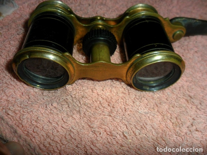 Antigüedades: prismatctcos binoculare de teato mango de nacar - Foto 2 - 117820223