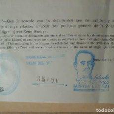 Antigüedades: CONOCIMIENTOS DE EMBARQUE CON SELLO GENERAL FRANCO AÑO 1.939. Lote 117870475