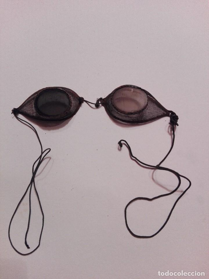 GAFAS DE SOLDAR MUY ANTIGUAS (Antigüedades - Técnicas - Instrumentos Ópticos - Gafas Antiguas)