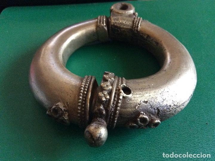 Antigüedades: Cerradura en bronce antigua 9cmx9,5cm. - Foto 7 - 117919763