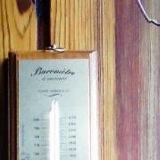 Antigüedades: BAROMETRO COLUMNA DE MERCURIO Y TERMOMETRO ,REVISADO PERFECTO ESTADO RECOGIDA LOCAL. Lote 118012411